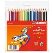 Цветные карандаши STABILO Trio thick, Trio thick short