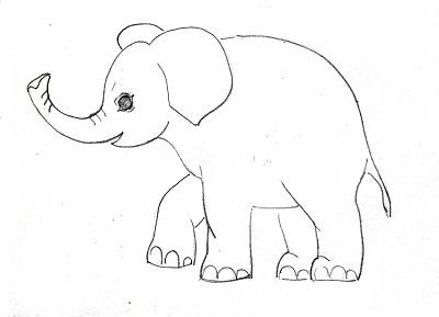 Картинки слона поэтапно для детей 5 лет