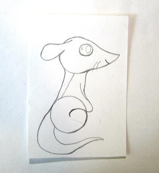 Рисуем суслика карандашом