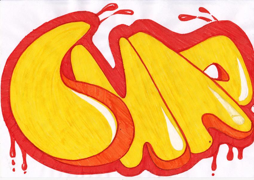 Как рисовать граффити поэтапно слова