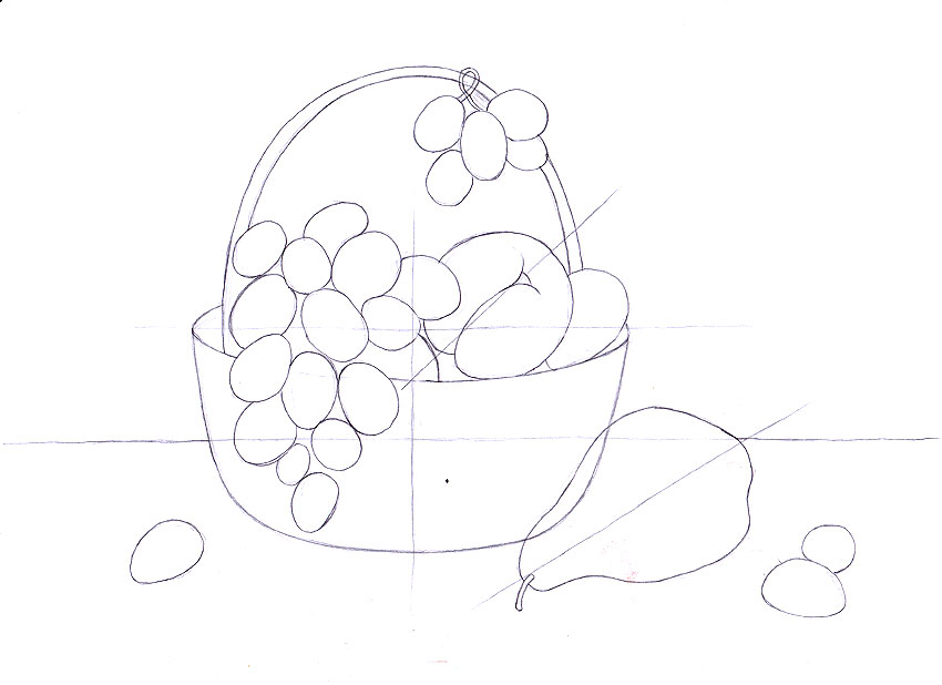 натюрморт карандашом поэтапно: