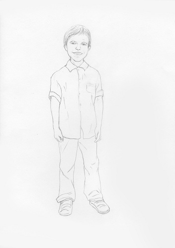 нарисованный мальчик карандашом