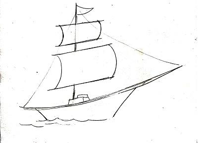 Рисунок корабля для тату