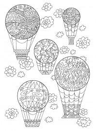 Раскраска антистресс воздушные шары