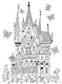 Раскраски сказочный замок