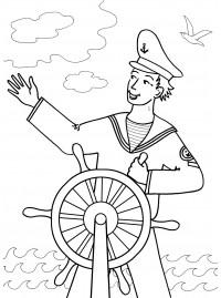 Раскраска моряк
