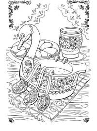 раскраски Stabilo городецкая роспись Stabilo4kids Ru