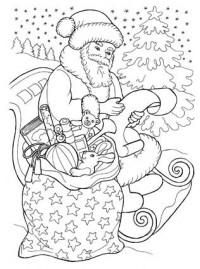раскраска новый год для детей Stabilo4kids Ru
