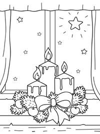 Раскраски рождественские открытки
