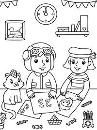 раскраска 23 февраля для детей Stabilo4kids Ru