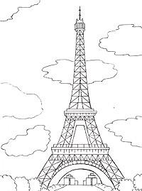 Эйфелева башня раскраски