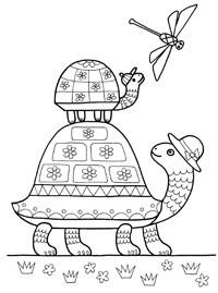 Раскраски Stabilo: Черепахи Stabilo4kids.ru