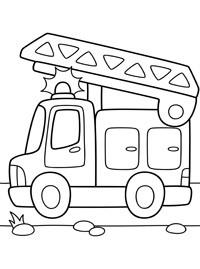 Раскраски для мальчиков 3-4 года, 5 лет. Транспорт ...