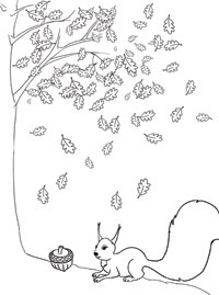 раскраска белка для детей Stabilo4kids Ru