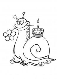 "Раскраски Stabilo: Раскраски ""С Днем рождения ..."